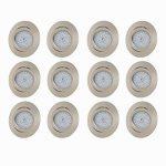 B.K. Licht lot de 12 spots LED encastrables ultra-plats, orientables, plafonnier design, éclairage encastré LED intérieur, blanc chaud, 230V, IP23, 12x5W de la marque B.K.Licht image 1 produit