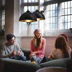 B.K. Licht lot de 2 suspensions vintage | 2 luminaires style industriell | plafonnier vintage lot de 2 | éclairage intérieur | lampe cuisine salon salle à manger chambre | noir | 230V | IP20 | Ø 300mm de la marque B.K.Licht image 2 produit