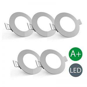 B.K. Licht lot de 5 spots LED encastrables ultra minces, spots plafond encastrables ultra minces, éclairage spot LED intérieur, 230V, IP23, 5x5W, Ø 85 mm, profondeur d'encastrement 30mm de la marque B.K.Licht image 0 produit