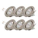 B.K. Licht lot de 6 spots encastrables orientables, 6 ampoules LED 5W incluses, 230V, GU10, IP23, éclairage plafond encastrable, blanc chaud, 6x5W de la marque B.K.Licht image 1 produit