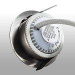 B.K. Licht lot de 6 spots LED IP44 pour salle de bain, encastrables ultra-plats, 6X5W LED inclus, plafonnier salle de bain, éclairage salle de bain encastrable, 230V, IP44 de la marque B.K.Licht image 4 produit