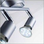 B.K. Licht plafonnier 2 spots LED orientables, spots plafond orientables, ampoules LED GU10 2X3W fournies, éclairage plafond LED cuisine chambre salon, blanc chaud, 230V, IP20 de la marque B-K-Licht image 2 produit