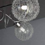 B.K. Licht plafonnier 3 spots LED orientables boules en cristal, luminaire moderne design, éclairage plafond blanche chaude, lampe salon cuisine couloir chambre, 230V, G9, IP20, 3x3,5W de la marque B.K.Licht image 2 produit