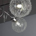 B.K. Licht plafonnier 3 spots LED orientables boules en cristal | luminaire moderne design | éclairage plafond blanche chaude | lampe salon cuisine couloir chambre | 230V | G9 | IP20 | 3x5W de la marque B.K.Licht image 2 produit