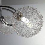 B.K. Licht plafonnier 3 spots LED orientables boules en cristal, luminaire moderne design, éclairage plafond blanche chaude, lampe salon cuisine couloir chambre, 230V, G9, IP20, 3x3,5W de la marque B-K-Licht image 4 produit