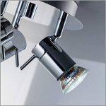 B.K. Licht plafonnier 3 spots LED orientables, plafonnier salle de bain IP44, éclairage plafond, lumière blanche chaude, 230V, IP44, 3x3W GU10 de la marque B.K.Licht image 4 produit