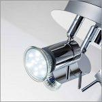 B.K. Licht plafonnier 3 spots LED orientables, plafonnier salle de bain IP44, éclairage plafond, lumière blanche chaude, 230V, IP44, 3x3W GU10 de la marque B.K.Licht image 3 produit