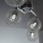 B.K. Licht plafonnier 4 spots LED orientables boules en cristal, luminaire moderne design, éclairage intérieur blanche chaude, lampe plafond chambre salon couloir cuisine, 230V, G9, IP20, 4x3,5W de la marque B.K.Licht image 4 produit