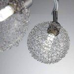 B.K. Licht plafonnier 4 spots LED orientables boules en cristal, luminaire moderne design, éclairage intérieur blanche chaude, lampe plafond chambre salon couloir cuisine, 230V, G9, IP20, 4x3,5W de la marque B.K.Licht image 3 produit