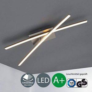 B.K. Licht plafonnier LED, 2 barres dont 1 barre pivotante, lampe moderne, plafonnier LED salon salle à manger chambre cuisine couloir, IP20, 11W de la marque B.K.Licht image 0 produit