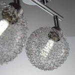 B.K. Licht plafonnier LED 2 spots boules de cristal, spots plafond orientables, luminaire intérieur moderne, éclairage chambre salon couloir, lumière blanche chaude, 230V, IP20, 2x3,5W de la marque B.K.Licht image 4 produit