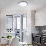 B.K. Licht plafonnier LED, 230V, IP20, luminaire plafond LED, éclairage intérieur, lumière blanche chaude, lampe plafond en verre, chambre salon couloir cuisine, 11,5W, 900lm, Ø 300 mm de la marque B.K.Licht image 3 produit