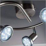 B.K. Licht plafonnier LED 3 spots orientables, luminaire plafond chromé, lumière blanche chaude, spots plafond chambre salon, 230V, GU10, IP20, 3x3W inclus de la marque B.K.Licht image 1 produit