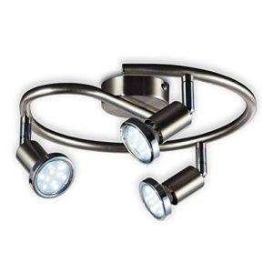 B.K. Licht plafonnier LED 3 spots orientables, luminaire plafond chromé, lumière blanche chaude, spots plafond chambre salon, 230V, GU10, IP20, 3x3W inclus de la marque B-K-Licht image 0 produit