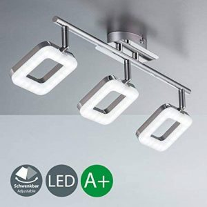 B.K. Licht plafonnier LED 3 spots orientables, spots plafond modernes, plafonnier salon bureau salle à manger cuisine couloir, lumière blanche chaude, 230V, IP20, 3x4W de la marque B.K.Licht image 0 produit