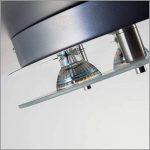 B.K. Licht plafonnier LED 3 spots, spots plafond, éclairage plafond cuisine salon salle à manger chambre, lumière blanche chaude, 230V, IP20, 3x3W de la marque B.K.Licht image 4 produit