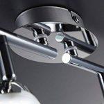 B.K. Licht plafonnier LED 4 spots orientables, luminaire plafond salon chambre bureau salle à manger, éclairage plafond, blanc chaud, 230V, IP20, 4x4W de la marque B.K.Licht image 4 produit