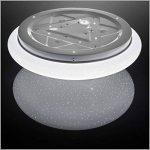 B.K. Licht plafonnier LED, effet scintillant, lumière étoile, lampe pour chambre couloir salon, éclairage intérieur, 12W, blanc froid, 230V, IP20, Ø 290 mm de la marque B.K.Licht image 4 produit