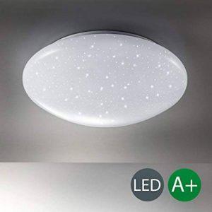 B.K. Licht plafonnier LED, effet scintillant, lumière étoile, lampe pour chambre couloir salon, éclairage intérieur, 12W, blanc froid, 230V, IP20, Ø 290 mm de la marque B-K-Licht image 0 produit