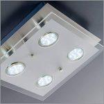 B.K. Licht plafonnier LED moderne, verre satiné, 4x3W, GU10, lampe bureau salon chambre cuisine couloir, éclairage intérieur, plafonnier bureau, applique murale, 230V, IP20 de la marque B-K-Licht image 3 produit