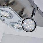 B.K. Licht plafonnier LED spots orientables, éclairage intérieur moderne, lumière chambre salon couloir, blanc chaud, 230V, IP20, 4x3W, GU10 de la marque B.K.Licht image 2 produit