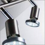 B.K. Licht plafonnier led, spots plafond orientables, éclairage plafond LED cuisine chambre salon, blanc chaud, 230V, GU10, IP20, 2x3W de la marque B.K.Licht image 3 produit