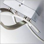 B.K. Licht plafonnier moderne, applique murale, 4 barres LED, 4X3,4W, lampe salon chambre chambre d'enfant bureau salle à manger couloir, éclairage intérieur, 230V, IP20 de la marque B.K.Licht image 4 produit