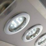 B.K. Licht plafonnier moderne, spots plafond LED, 6X3W, GU10, luminaire éclairage intérieur, lumière blanche chaude, lampe pour couloir cuisine salon salle à manger chambre, 230V, IP20 de la marque B.K.Licht image 2 produit