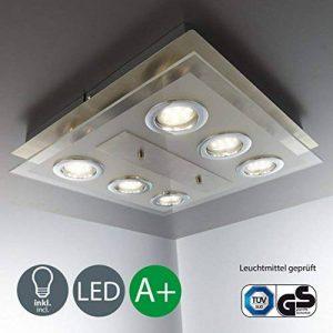 B.K. Licht plafonnier moderne, spots plafond LED, 6X3W, GU10, luminaire éclairage intérieur, lumière blanche chaude, lampe pour couloir cuisine salon salle à manger chambre, 230V, IP20 de la marque B.K.Licht image 0 produit