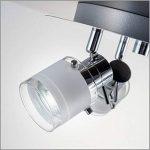 B.K. Licht plafonnier salle de bain 3 spots LED, ampoules GU10 incluses, éclairage intérieur, luminaire plafond salle de bain, spots orientables, lumière blanche chaude, 230V, IP44, 3x5W, Ø 250mm de la marque B.K.Licht image 2 produit