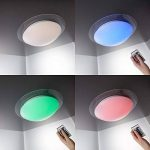 B.K. Licht plafonnier salle de bain dimmable, 16 couleurs, avec télécommande, platine LED incluse, 230V, IP44, lampe plafond salle de bain, luminaire blanche et couleurs, 12W de la marque B.K.Licht image 3 produit