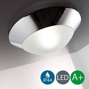 B.K. Licht plafonnier salle de bain IP44, applique salle de bain, éclairage plafond, lumière blanche chaude, E27, 230V, IP44, max 40W, Ø 310mm de la marque B.K.Licht image 0 produit
