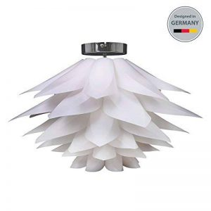 B.K Licht suspension design blanche, luminaire plafonnier modèrne, éclairage intérieur salon salle à manger chambre, 230V, IP20, max. 60W, Ø 330 mm, culot E27 de la marque B.K.Licht image 0 produit