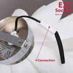 B.K Licht suspension design blanche, luminaire plafonnier modèrne, éclairage intérieur salon salle à manger chambre, 230V, IP20, max. 60W, Ø 330 mm, culot E27 de la marque B.K.Licht image 3 produit