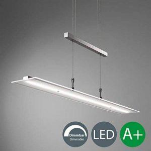 B.K. Licht suspension LED dimmable, lustre filaire design, hauteur réglable, platines LED intégrées, lumière blanche chaude, 230V, IP20, 4x5W, largeur 850 mm de la marque B.K.Licht image 0 produit