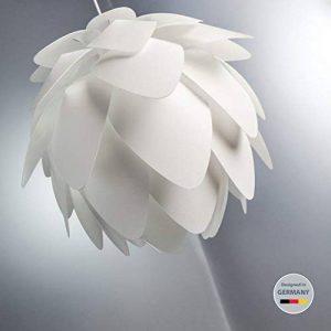 B.K. Licht suspension luminaire design blanc, plafonnier élégant, éclairage intérieur, lumière plafond salon salle à manger chambre, IP20, hauteur totale 1930 mm de la marque B.K.Licht image 0 produit