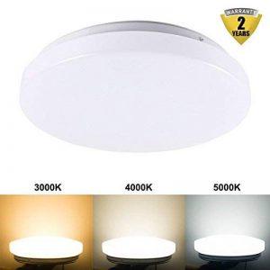 B-right 8W LED Ronde Plafonniers Lumière d'économie d'énergie Résistant à la Corrosion Plafonnier Blanc chaud (3000k) de la marque B-right image 0 produit