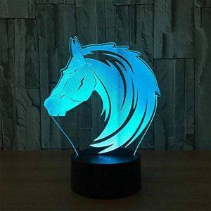 baby QLED 3D Lampe, Lampes de cadeau créatif de personnalité de cheval, lampes décoratives, lumières d'USB de la marque baby Q image 0 produit