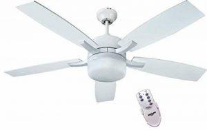 bastilipo Ventilateur de plafond avec télécommande E27, 60W, Blanc, 132x 45cm de la marque Bastilipo image 0 produit