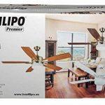 bastilipo Ventilateur de plafond avec télécommande E27, 60W, Blanc, 132x 45cm de la marque Bastilipo image 4 produit