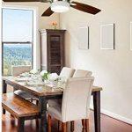 bastilipo Ventilateur de plafond avec télécommande E27, 60W, gris satiné, 132x 45cm de la marque Bastilipo image 3 produit