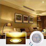 Bay Lot de 4 Spots Encastrables LED 3W Projecteur Encastré Lampe Plafonnier Orientable Blanc Chaud Plafond Rond 2800K 280 LM Equivalente à Incandescence de 30W Ra 80 AC90-265V de la marque Bay image 2 produit