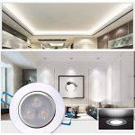 Bay Lot de 4 Spots Encastrables LED 3W Projecteur Encastré Lampe Plafonnier Orientable Blanc Froid Plafond Rond 6000K 280 LM Equivalente à Incandescence de 30W Ra 80 de la marque Bay image 2 produit