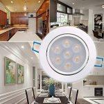 Bay Lot de 4 Spots Encastrables LED 7W Projecteur Encastré Lampe Plafonnier Orientable Blanc Froid Plafond Rond 6000K 630 LM Equivalente à Incandescence de 50W Ra 80 de la marque Bay image 2 produit