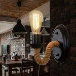 BAYCHEER Applique Murale Luminaire Chanvre Corde Chandelier Éclairage Industriel Lampe up Rétro de la marque BAYCHEER image 3 produit