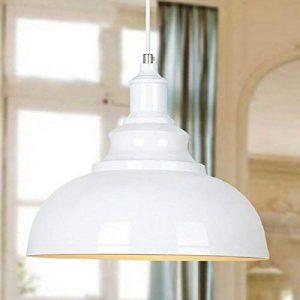 BAYCHEER E27 Métal Retro Lustre Abat-jour Suspensions Luminaires Plafonniers Lampe Industriel Blanc de la marque BAYCHEER image 0 produit