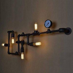 BAYCHEER Lampe Applique Murale Rétro Industrielle E27 avec 5 Douille Métal Tuyau Eclairage Decoratif de la marque BAYCHEER image 0 produit