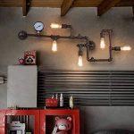 BAYCHEER Lampe Applique Murale Rétro Industrielle E27 avec 5 Douille Métal Tuyau Eclairage Decoratif de la marque BAYCHEER image 4 produit
