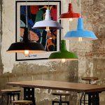 BAYCHEER Lampe Suspensions Lustre Abat-jour en Métal Style Bol Rétro Industriel Eclairage Decoratif-Rouge de la marque BAYCHEER image 4 produit