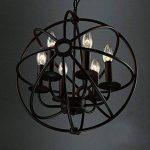 BAYCHEER Lustre Chandelier Abat-jour en Métal Style Rétro Design Cage Lampe Plafonnier 6 culot E27 de la marque BAYCHEER image 2 produit